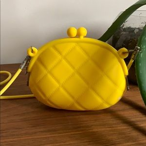 Canary Yellow Plastic Shoulder Bag
